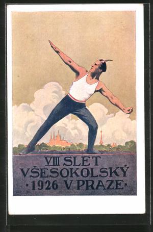 1926 VIII All-Sokol Slet in Newly Built Strahov Stadium Poster