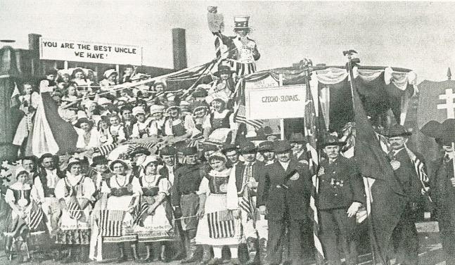 Czech-American Sokols celebrate America (circa 1920s)