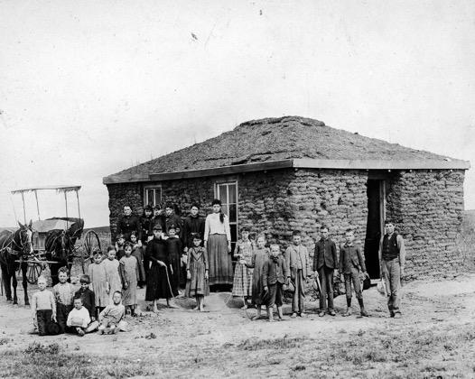 Czech prairie home in Nebraska (circa 1890)