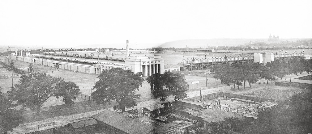 Letná Stadium view from a water tower in 1912 VI All-Sokol Slet