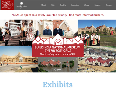 National Czech and Slovak Museum and Library Website