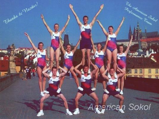 Performance Team on Prague's Wenceslaus Bridge