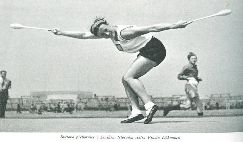 Two-time World Gymnastics Champion, Vlasta Děkanová