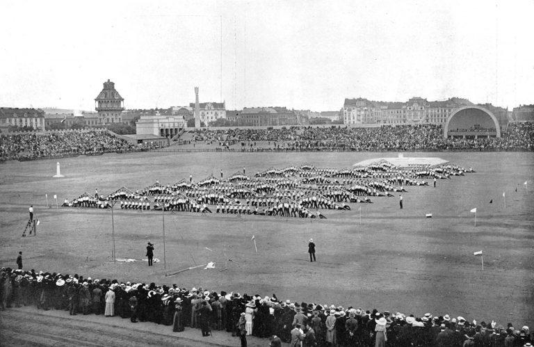 VI All-Sokol Slet in 1912 in Expanded Letná Stadium 120,000 Capacity