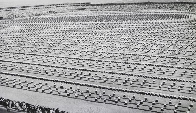 X All-Sokol Slet in 1938 - 31,000 women performing calisthenics.