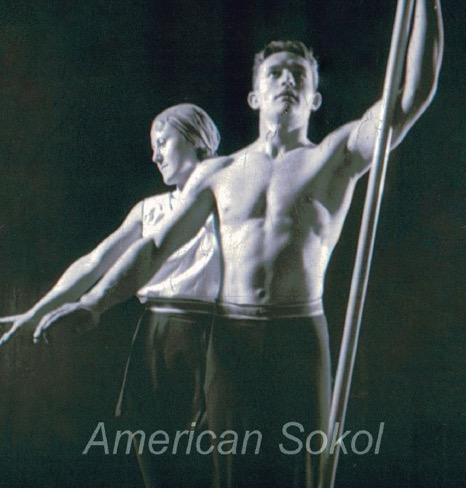 1933 Sokol Slet IV in conjunction with the World's Fair in Chicago Gymnasts