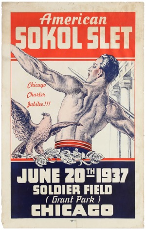 1937 American Sokol Slet Calisthenic Drill by Junior Girls and Boys Poster