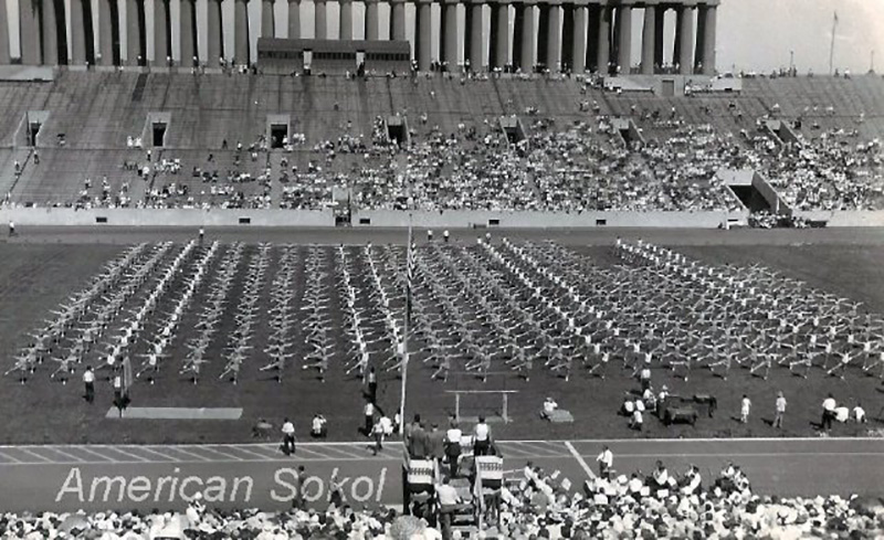 1937 American Sokol Slet Calisthenic Drill by Junior Girls and Boys2