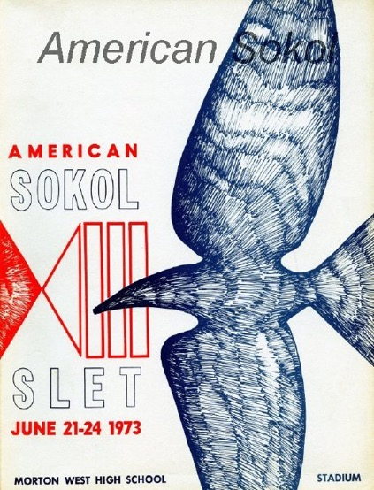 1973 XIII Slet Berwyn, IL Poster 1