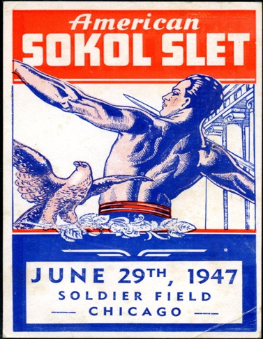 American Sokol Organization Slet (VII) in Chicago's Soldier Field, 1947 Poster