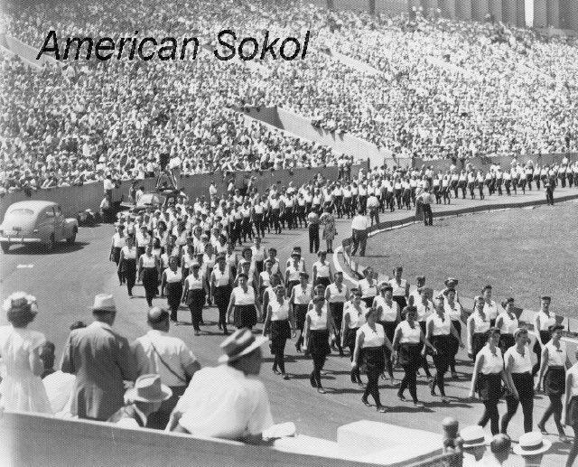 American Sokol Organization Slet (VII) in Chicago's Soldier Field, 1947