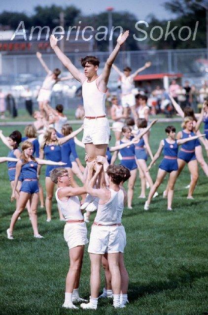 American Sokol Slet at Morton West High School, Berwyn IL, 1969