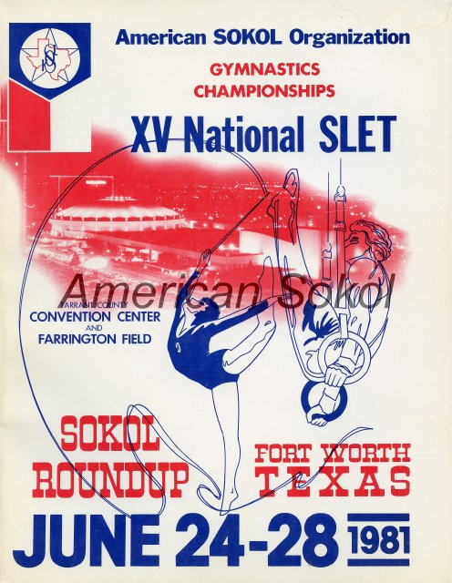 Gymnastic competitions at ASO XV. National Slet 1981 Poster