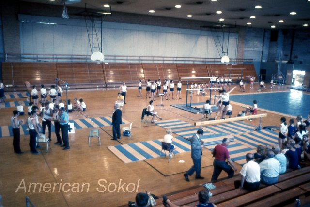 Gymnastic competitions at ASO XV. National Slet 1981