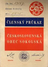 Post war membership in Sokol soars (member's card for 1945)