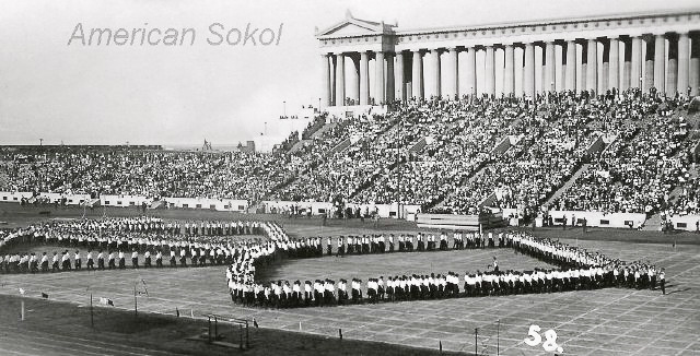 Second American Sokol Slet (1925) Soldier Field, Chicago