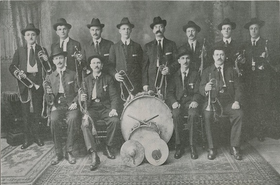 Sokol New York included a bugle and drum band