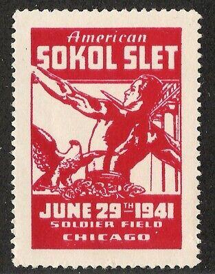 Sokol Slet 1941 Chicago Stamp