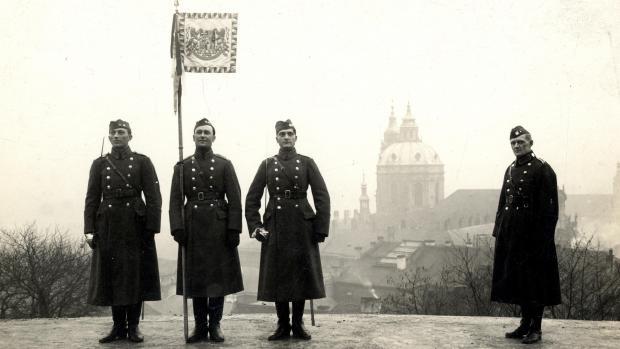 Sokol guards at Prague Castle circa 1919