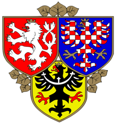 The coat of arms represents the 3 Czech provinces