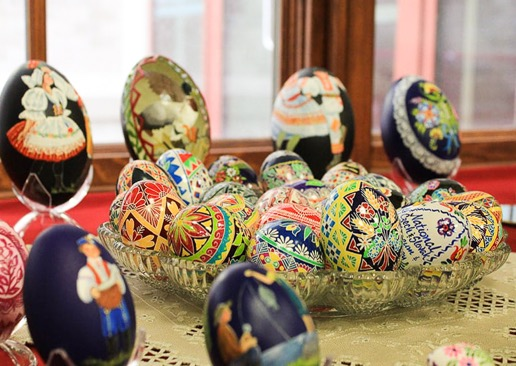 decorated Easter eggs by Marj Nejdl