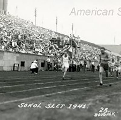 men's track event